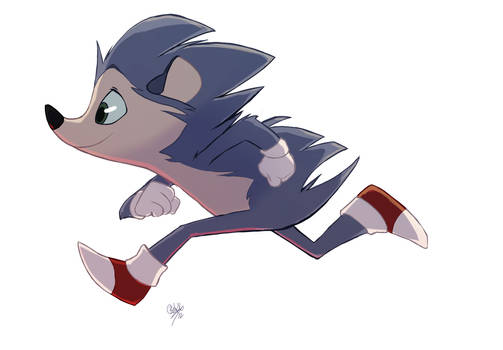 Sonic the Hedgehog by rollingrabbit