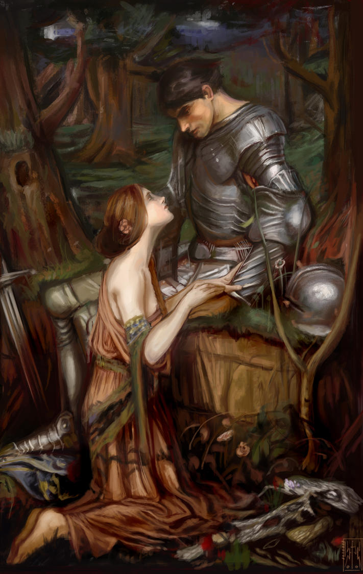 john william waterhouse lamia y el caballero cover by Eleesar