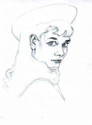 Audrey Hepburn by msBlake