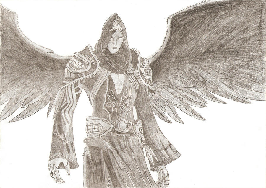 Assassins creed dark angel pencil drawing by pnclaudiu