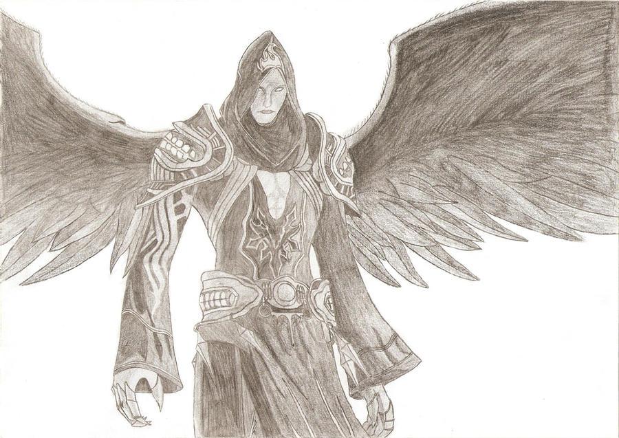 Assassins creed dark angel pencil drawing by pnclaudiu