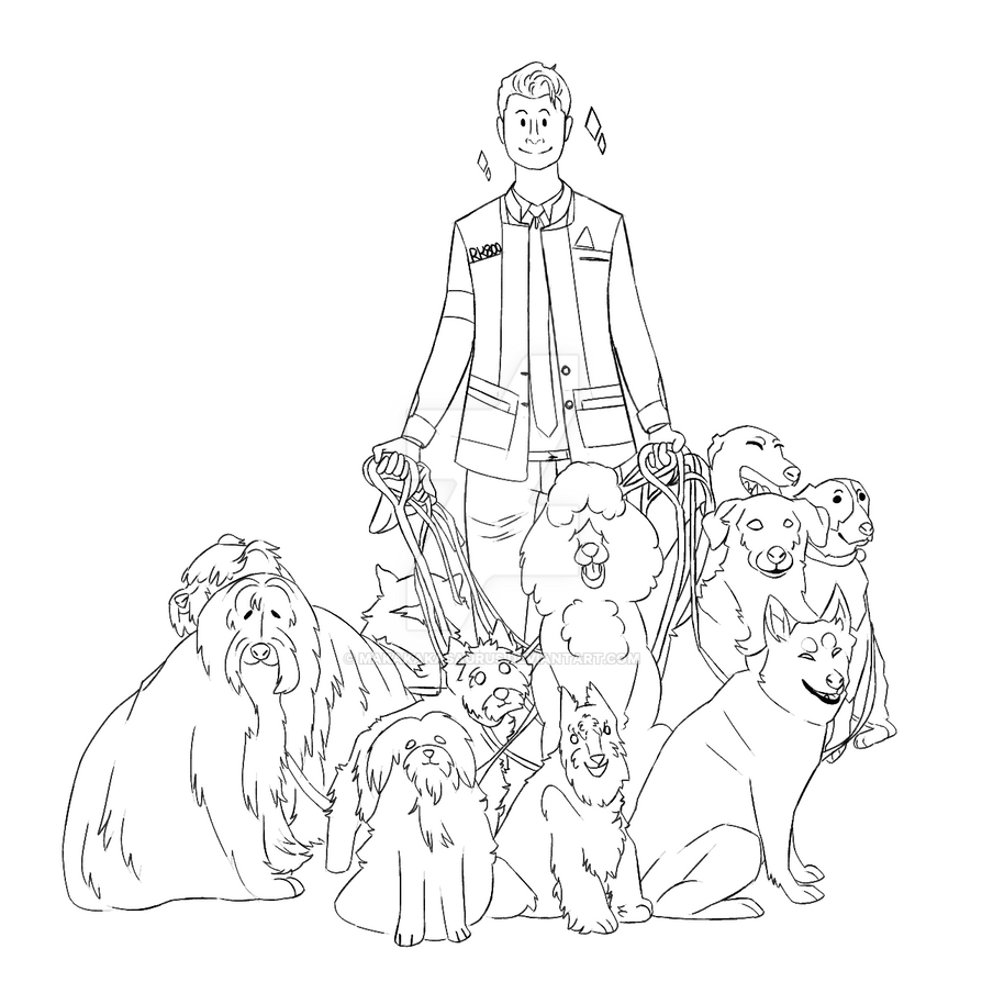 connor with like 11 dogs.png by Makakakasaurus