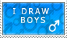 I draw boys :STAMP: by PapaSam