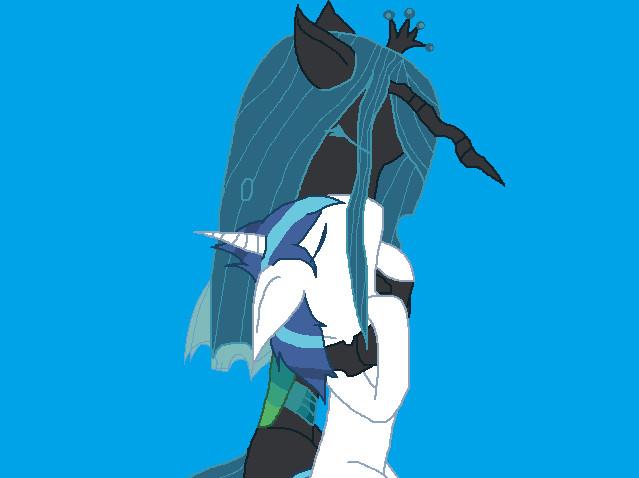 Shining Armor x Queen Chrysalis by CreamecreamQueen Chrysalis And Shining Armor