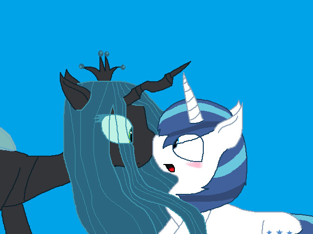 Request-Shining Armor x Queen Chrysalis by Creamecream on ...