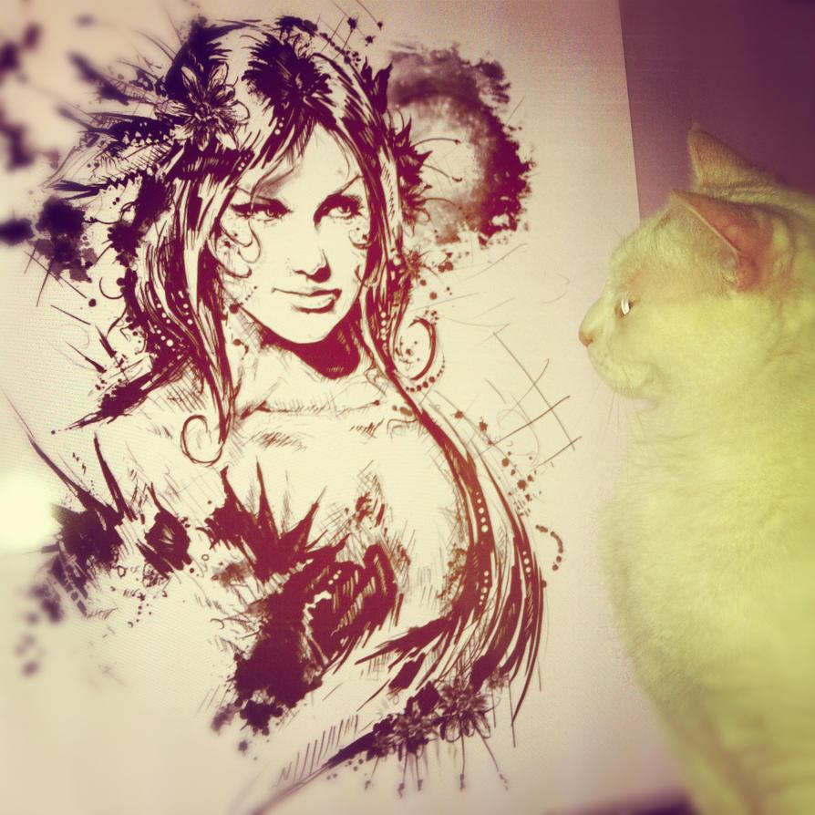 Poison Ivy Sketch by VVernacatola on DeviantArt