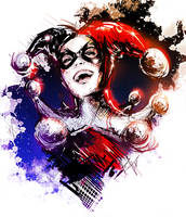 New Harley Quinn sketch by VVernacatola