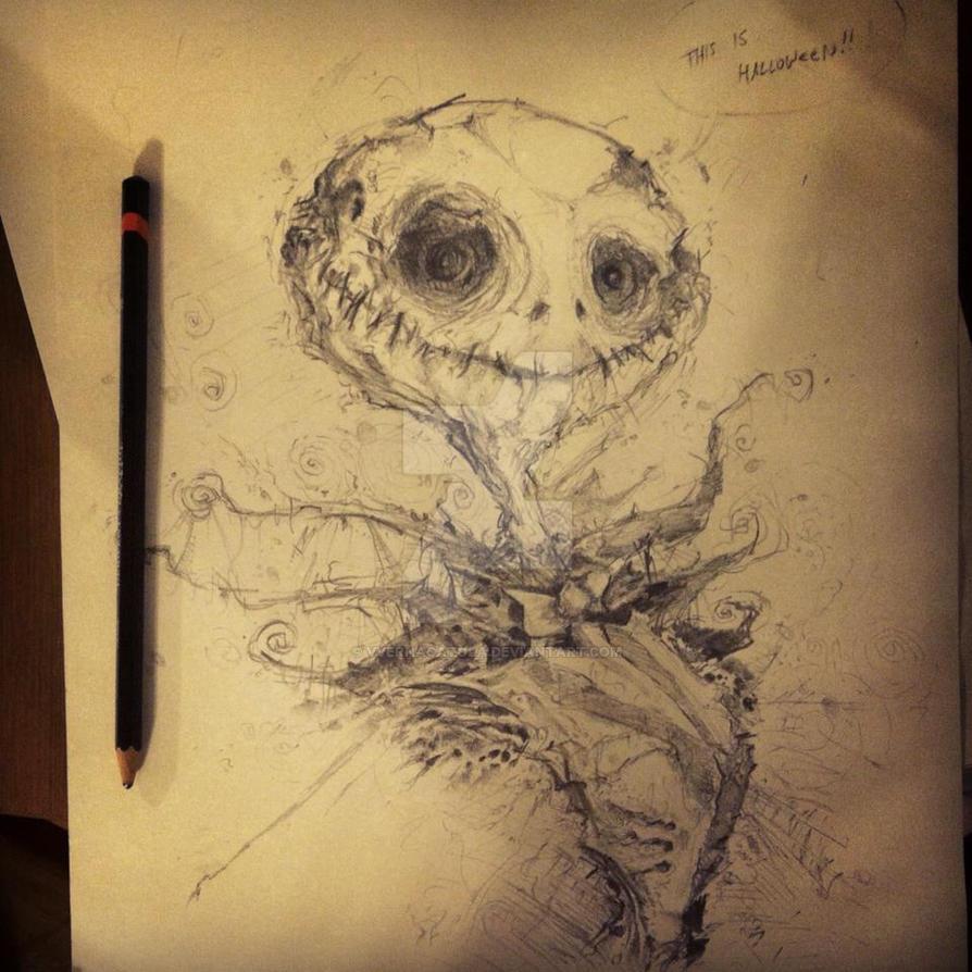 Jack skellington pencil sketch by vvernacatola