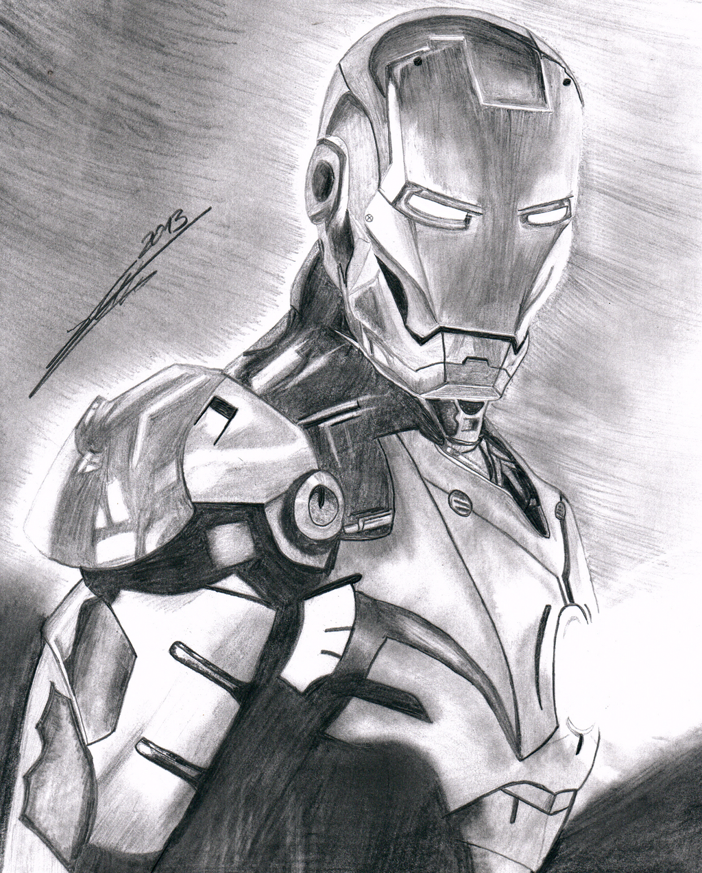 Iron Man Drawing by markusihl on DeviantArt