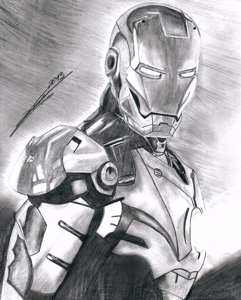 Iron Man Drawing By Markusihl On DeviantArt
