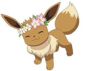 Pokemon base-Petition to give eevees flower crowns