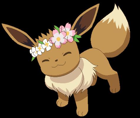 eevee with flower crown