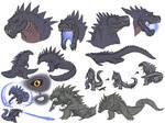 KR Godzilla Sketches