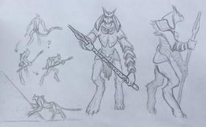 Egyptian Kaiju Sketch Request
