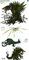 Kaiju Revolution: BIOLLANTE COMBAT FORMS