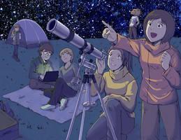 Stargazing by laurbits