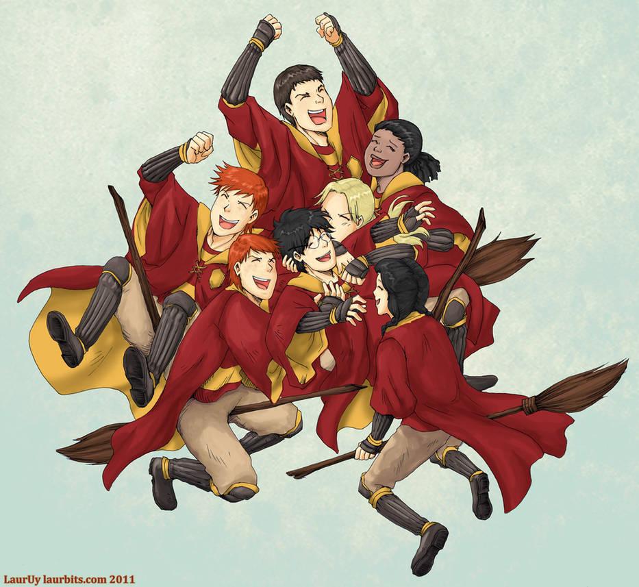 Gryffindor Quidditch Victory by laurbits