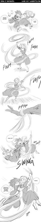 Crossover Meme: Sora n Rapunzel
