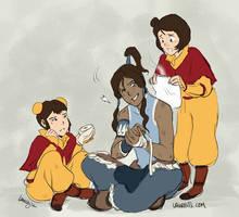 Tenzin Sibling Moment by laurbits