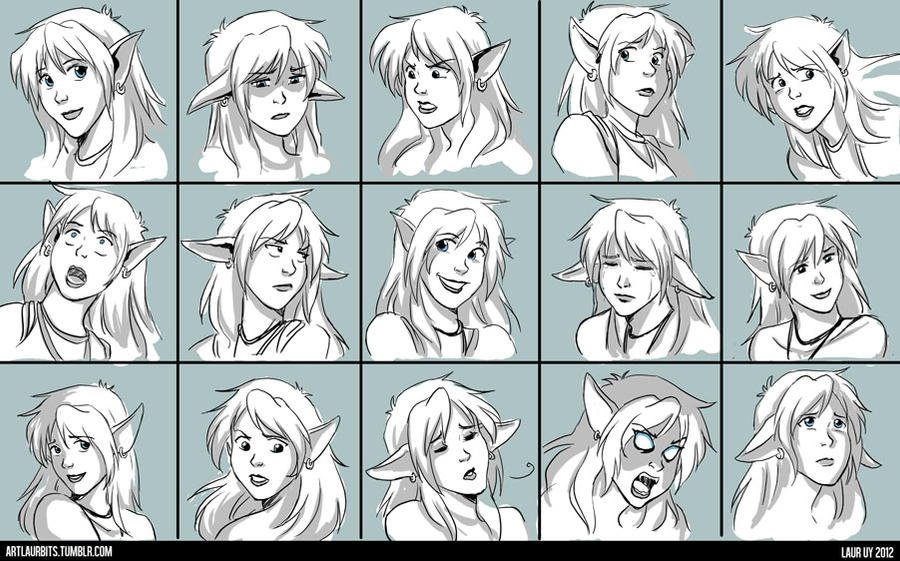 Zia Expression Sheet by laurbits