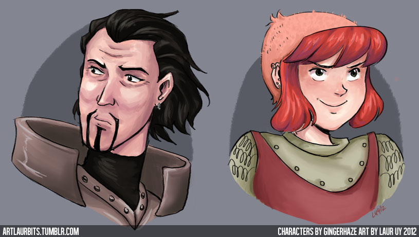 Nimona and Ballister Blackheart by laurbits