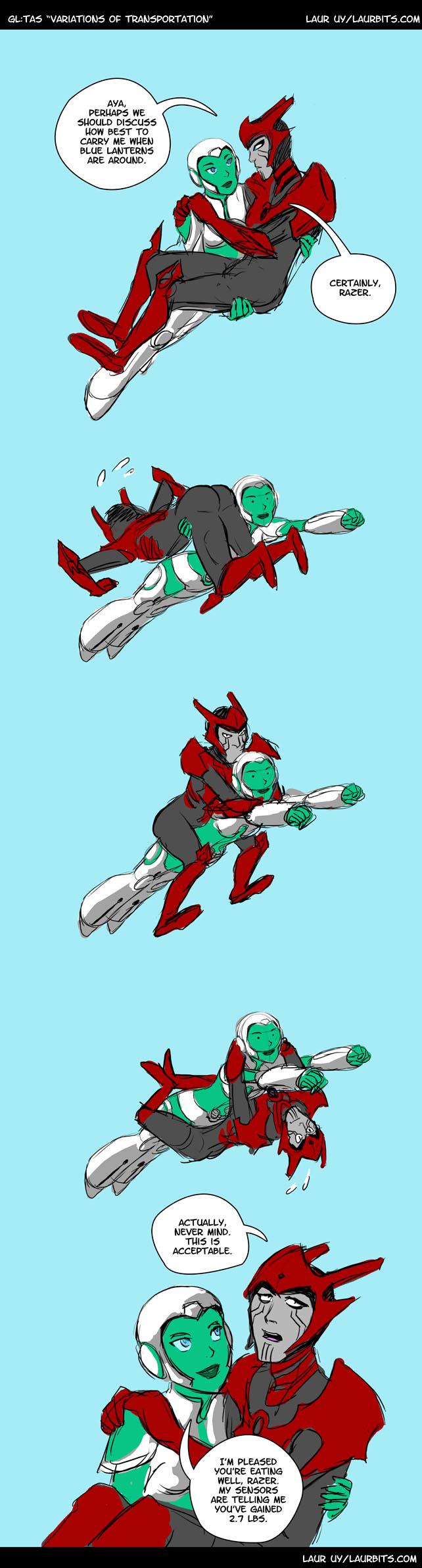 Aya Carrying Razer by laurbits