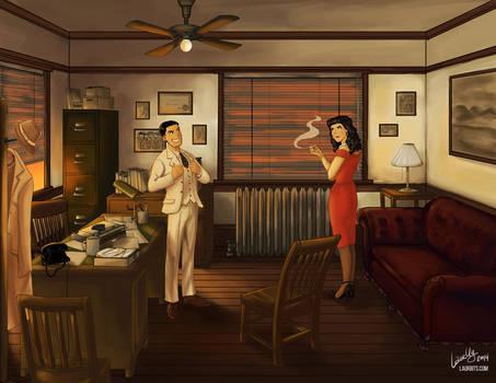 Noir Reggie and Veronica