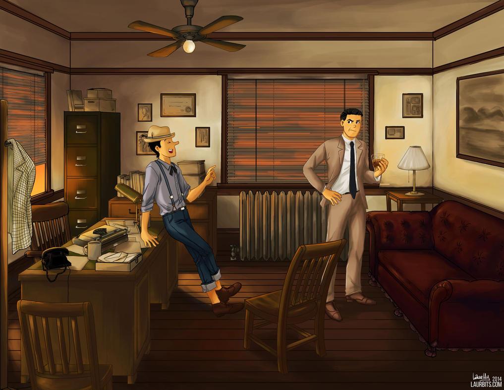 Noir Jughead and Reggie by laurbits