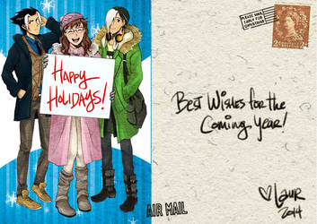 Holiday Card 2014 by laurbits