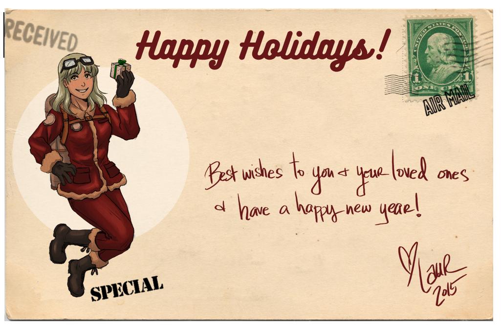 Happy Holidays 2015! by laurbits
