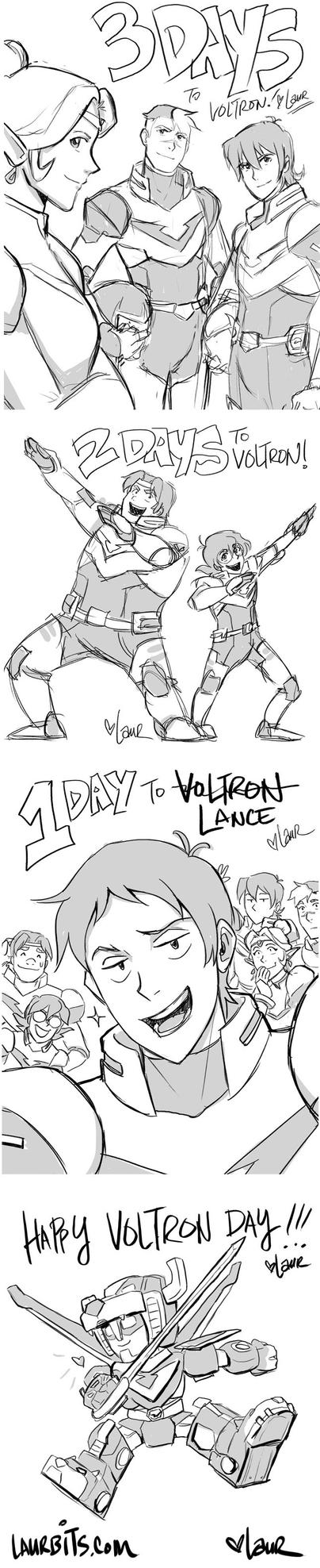 Countdown to Voltron sketches by laurbits