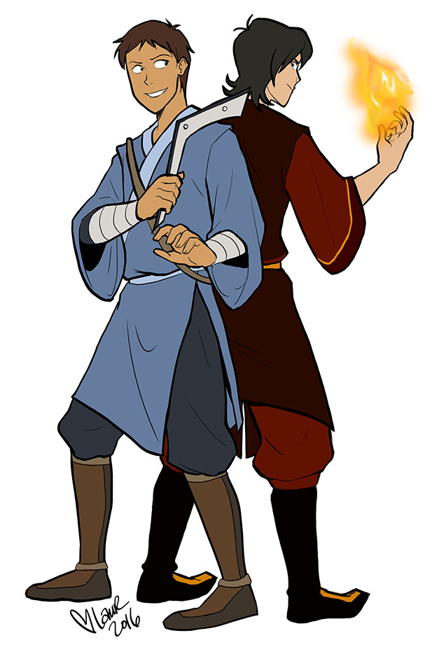 Space Sokka And Zuko By Laurbits On Deviantart