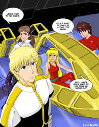 Saber Rider Comic Page by laurbits