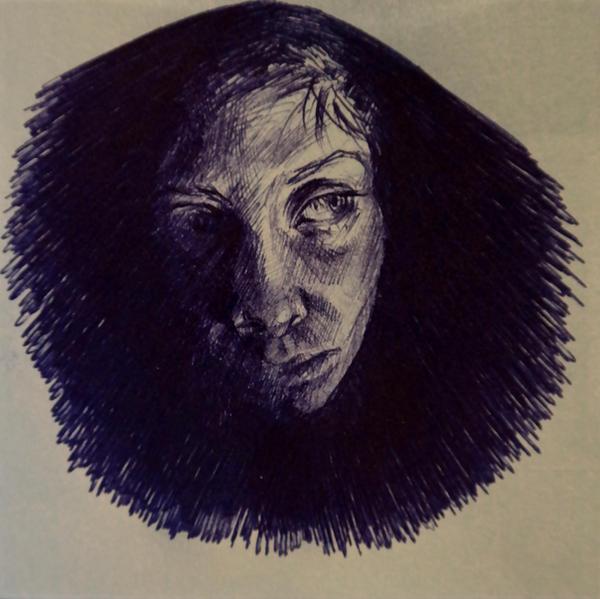 Stickynote portrait 2 by masktoblack