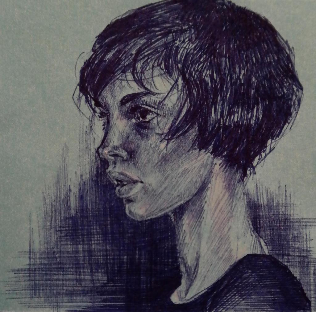 Stickynote portrait 3 by masktoblack