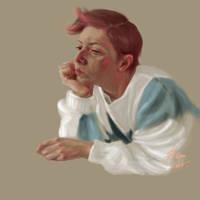 Selfportrait by masktoblack