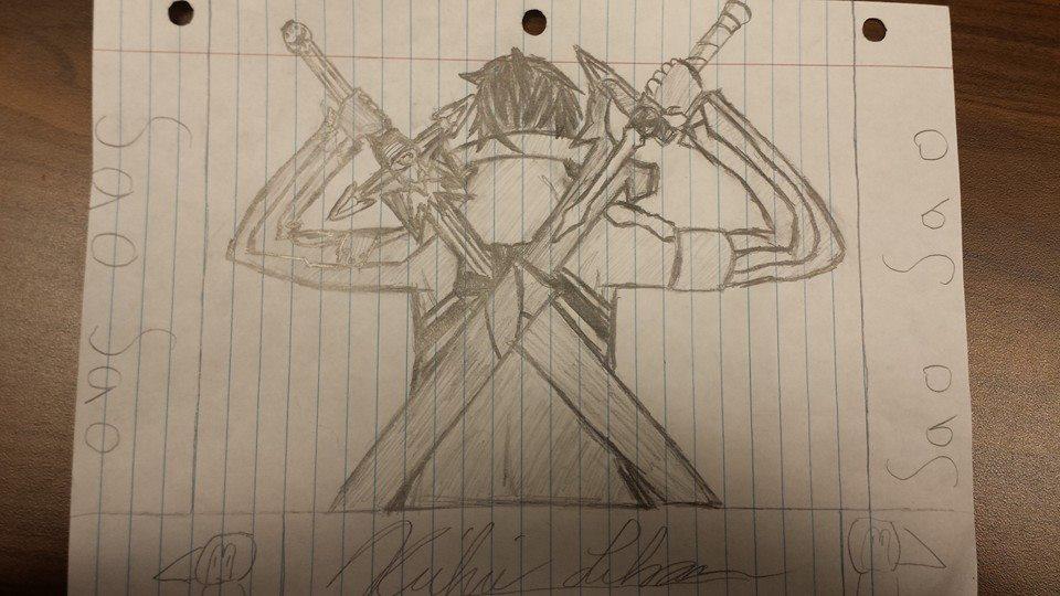 Kirito from a pencil by xDREAM-EATERx