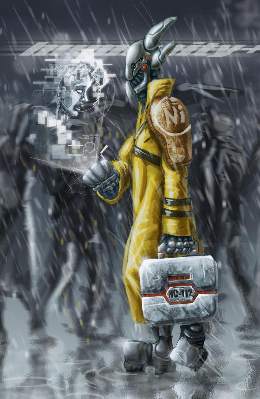 Ghost in the rain by AspectusFuturus