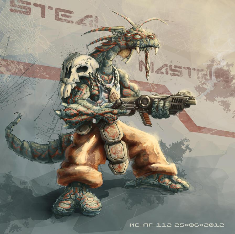Reptile snatcher by AspectusFuturus