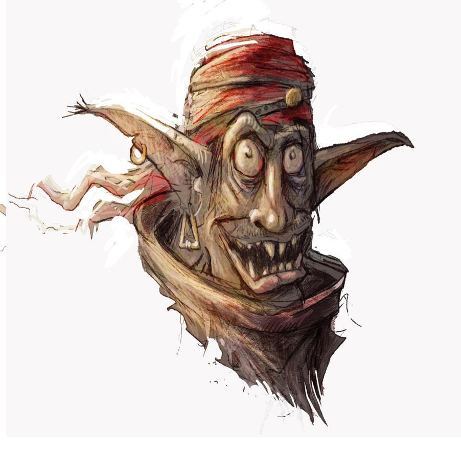 Goblin sketch by AspectusFuturus
