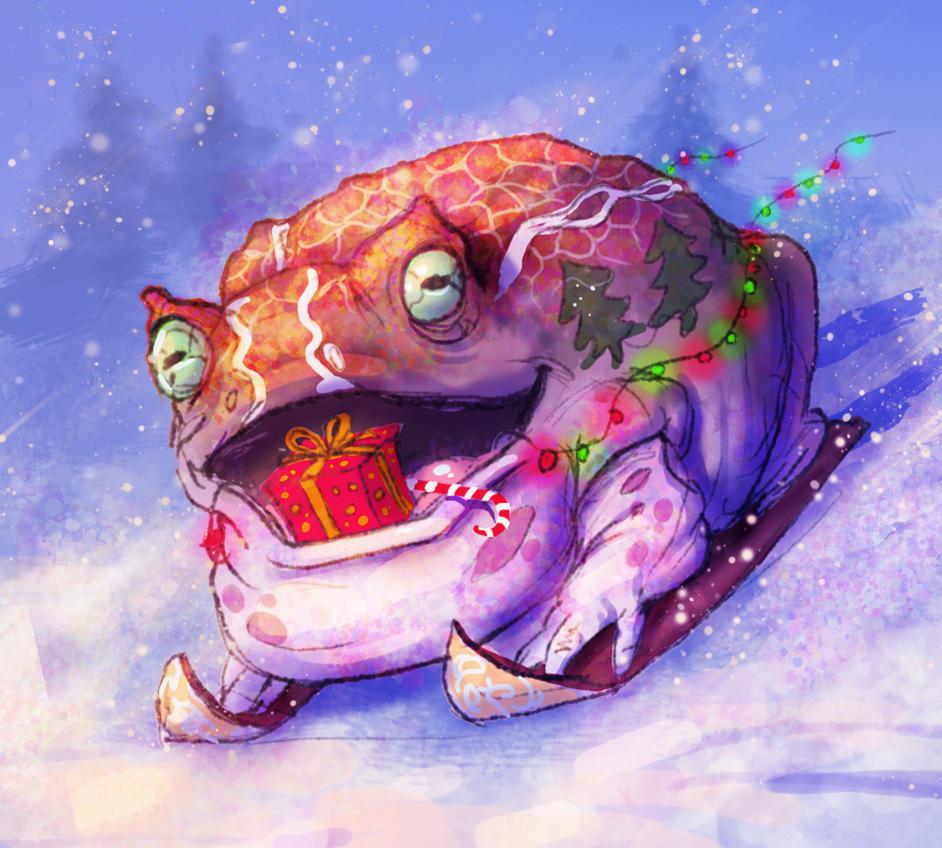 New Year's Toad by AspectusFuturus