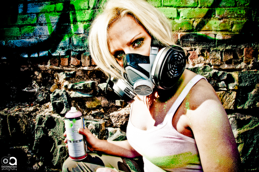 Andrea - Graffiti Series 4 by davidapuzzophoto