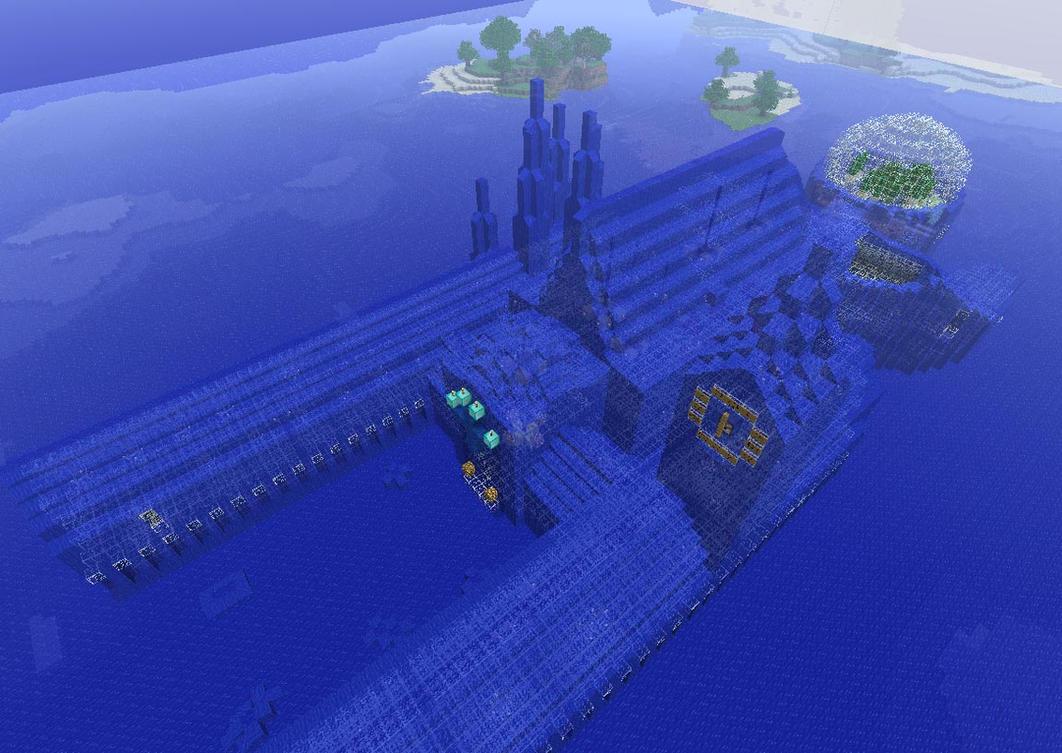 Minecraft Water Mansion By Blackmantha On Deviantart