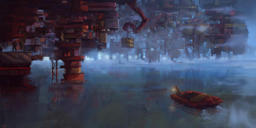 floating city' by kemalgedikk