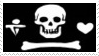 Pirate Flag Stamp 3 by dA--bogeyman