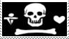 Pirate Flag Stamp 3 by dA--bogeyman