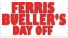 Ferris Bueller Movie Stamp 2 by dA--bogeyman
