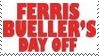 Ferris Bueller Movie Stamp 2 by dA--bogeyman