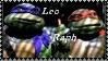 TMNT Leonardo + Raphael Stamp by dA--bogeyman