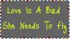 Love Is A Bird Stamp by dA--bogeyman